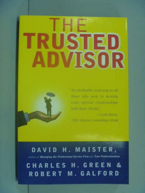 【書寶二手書T1/財經企管_NGO】The Trusted Advisor_Maister