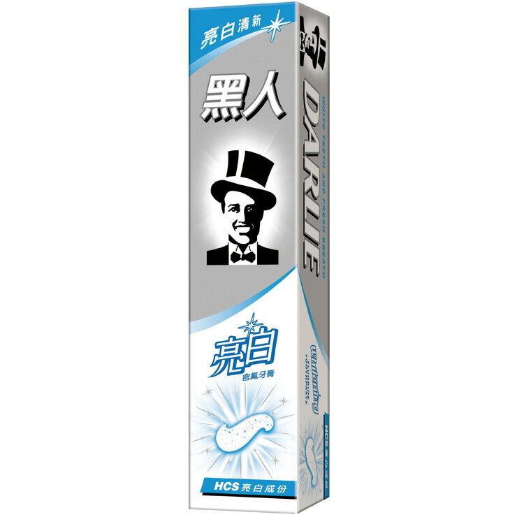 黑人 亮白含氟牙膏 160g