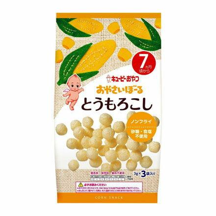 『121婦嬰用品』日本Kewpie S-3 寶寶菓子球-玉蜀黍(3g*3小袋) - 限時優惠好康折扣