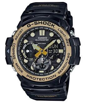 CASIO G-SHOCK GN-1000GB-1A 黑金數位雙顯多功能陸海空腕錶/黑53mm