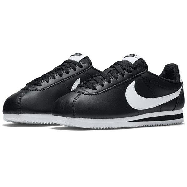 【NIKE】WMNS CLASSIC CORTEZ LEATHER 休閒鞋 阿甘鞋 黑色 (女鞋)-807471010