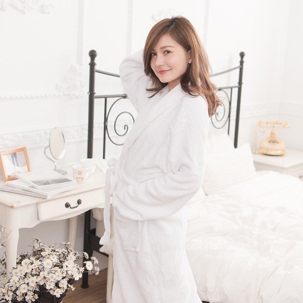 M / L / XL法蘭絨男女浴袍睡袍(經典紅 / 經典白 / 經典黑) 1