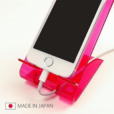 日本製 手機桌上置物架 手機架 支架 充電 壓克力 智慧型手機 iphone 5 【SV3165】快樂生活網