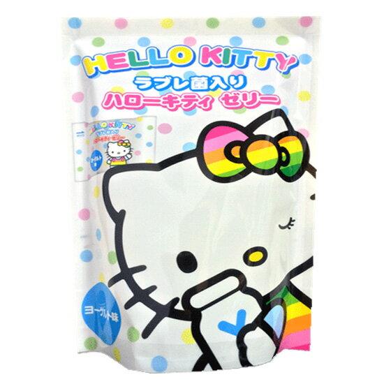 【即期良品】浪速製?HelloKitty 凱蒂貓果凍- 優格果凍(6個入) *賞味期限: ?2017/10/03* ????????????? 日本零食