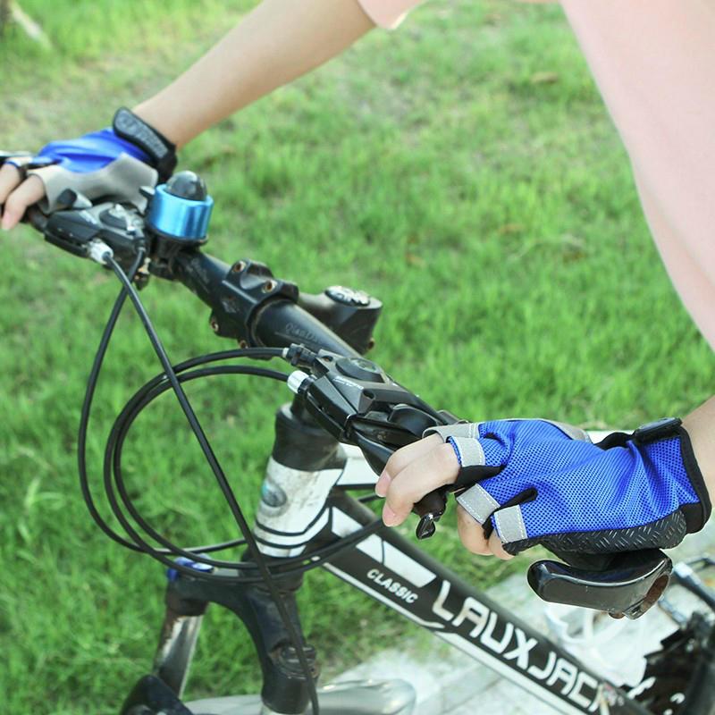 騎行手套半指山地自行車手套夏季裝備男女薄透氣防滑減震騎車1入