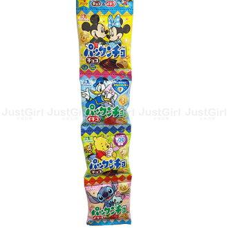 迪士尼 米奇米妮 唐老鴨黛西 維尼小豬 史迪奇 森永 夾心餅乾 四包 巧克力 草莓 日本製造進口 JustGirl