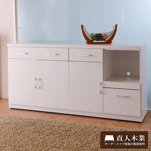 【日本直人木業】SUNNE簡單生活 160CM廚櫃
