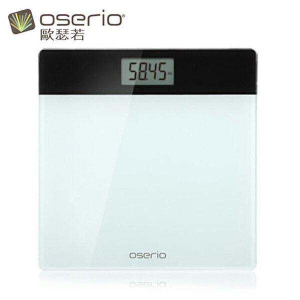 【歐瑟若oserio】數位體重計 BAG-282 (白黑)