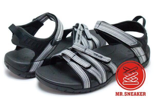 ☆Mr.Sneaker☆TEVATIRRA運動避震易乾涼鞋BLACKWHITEMULTI黑灰女款