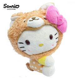 【正版授權】凱蒂貓 玩偶造型 鑰匙圈 吊飾 Hello Kitty 三麗鷗 Sanrio - 006050