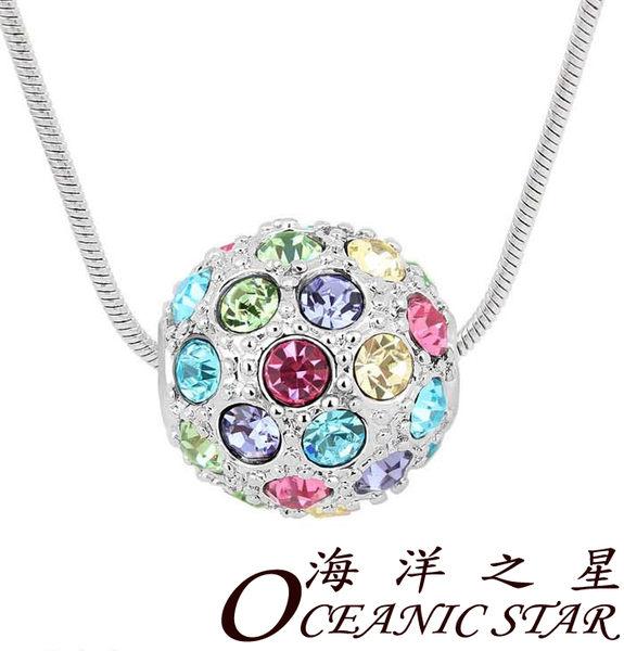 ✻蔻拉時尚✻ [D119N31] 海洋之星 項鏈 繽紛彩球守護愛情吊墜水晶項鏈