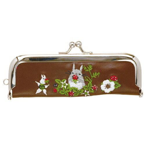 【真愛日本】16062300021珠扣電繡印章袋-灰龍貓紅梅收納包正品限量預購