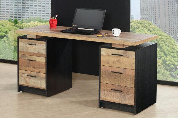 【尚品家具】JF-367-2尼克森5尺厚切木紋電腦書桌