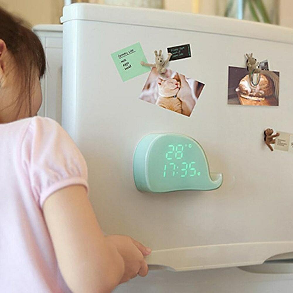 簡約創意多功能床頭學生智慧鬧鐘 兒童貪睡夜光靜音ins電子時鐘  極客玩家