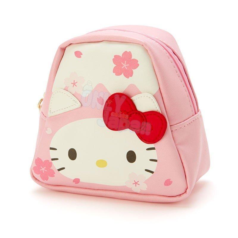 【真愛日本】凱蒂貓kitty 零錢包 硬幣收納 小物收納 發票包 療育小物 女生配件 4550337333303 富士山造型零錢包-KT櫻花FD32