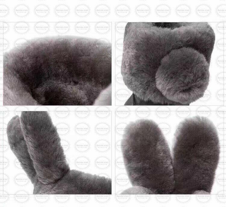 OUTLET正品代購 澳洲 UGG x DUEPLAY 聯名兔耳朵 雪靴 保暖 真皮羊皮毛 雪靴 短靴 灰色 3