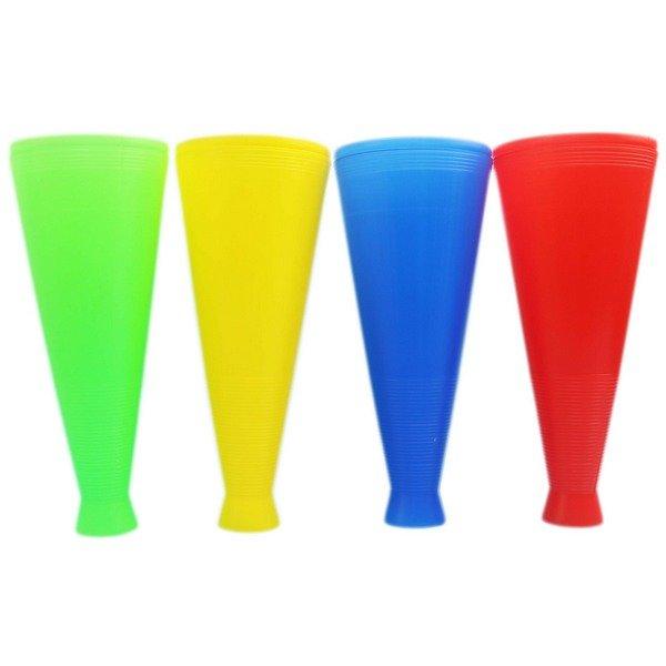 大喇叭型加油棒 (空白) 啦啦隊加油棒 /一袋10支入(特45) 運動會加油棒 球賽 派對 勝利 拉拉隊加油棒 吶喊筒 敲打式加油棒 MIT製
