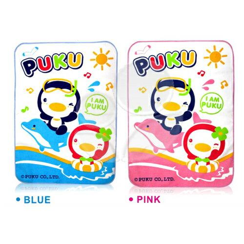 Puku藍色企鵝超柔嬰幼兒防濕墊(藍粉)【悅兒園婦幼生活館】