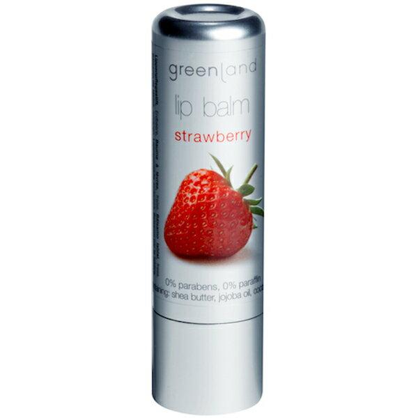 *滿799現折50**任選2件75折*Greenland果漾潤澤草莓護唇膏3.9gr《康是美》