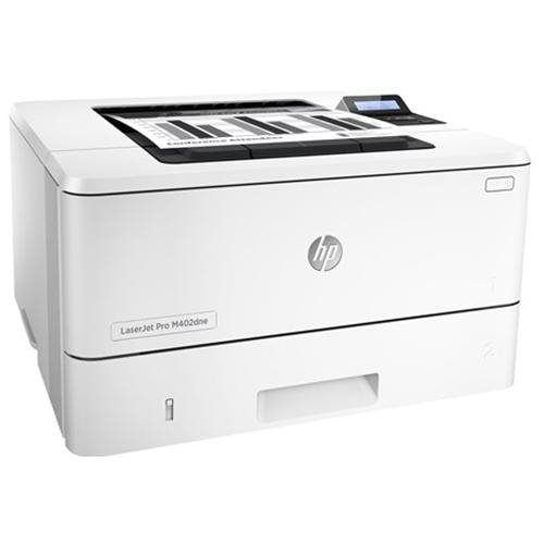 HP LaserJet Pro M402dne Laser Printer - Monochrome - 1200 x 1200 dpi Print - Plain Paper Print - Desktop - 63 ppm Mono Print - A5, Legal, Letter, A4, Custom Size - 350 sheets Standard Input Capacity - 80000 Duty Cycle - Automatic Duplex Print - Ethernet - 1