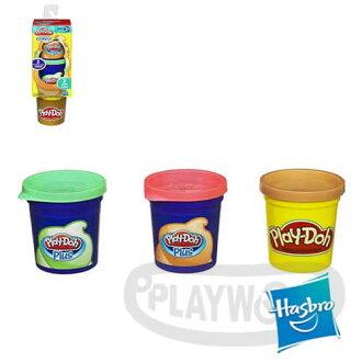 【Playwoods】[培樂多黏土PLAYDOH]補充罐-甜點系列 柑橘青蘋果 水果冰淇淋(孩之寶Hasbro/安全無毒)