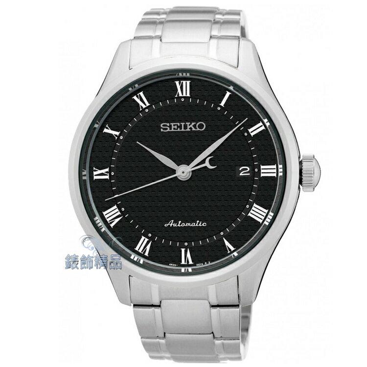 【錶飾精品】精工表SEIKO手自動上鍊機械錶 日期 羅馬時標 黑面鋼帶男錶SRP769K1 全新原廠正品 生日 情人節 禮物 禮品
