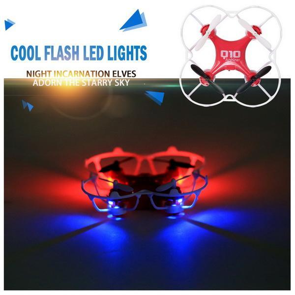CX-10 Mini 29mm 4CH 2.4GHz 6-Axis Gyro LED CF Mode 360 degree Eversion UFO RC Quadcopter 4