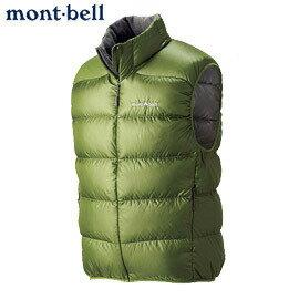 【露營趣】中和 Mont-Bell 1101363 800FP 頂級鵝絨 超輕保暖防風防潑水 男羽絨衣 抹茶綠 羽絨背心 登山旅遊賞雪