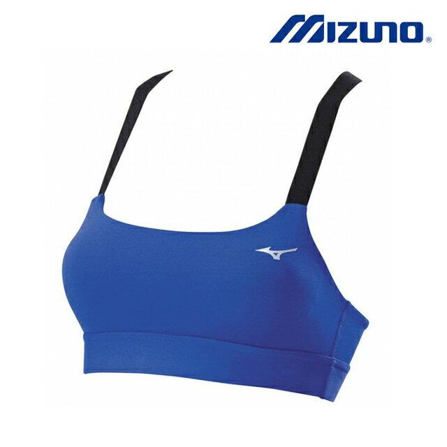 【領券最高折$300】Mizuno 女裝 上衣 運動內衣 透氣 吸汗 快乾 伸縮 彈性 中度支撐 藍 【運動世界】K2TA670225