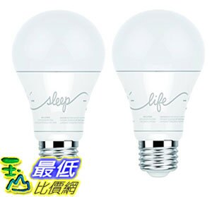 [107美國直購] 智能燈泡 C by GE A19 C-Life and C-Sleep Smart LED Light Bulb Combo by GE Lighting 2-Pack