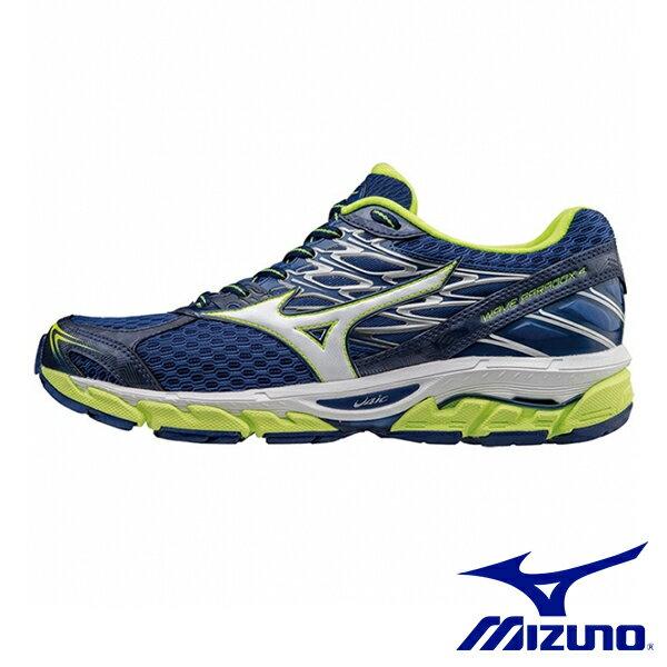 【MIZUNO促銷7折│全店免運】MIZUNO(男)WAVEPARADOX4SW慢跑鞋藍-J1GC174002