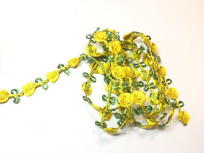【Crystal Rose緞帶專賣店】10mm 花飾織帶 (9色) 6