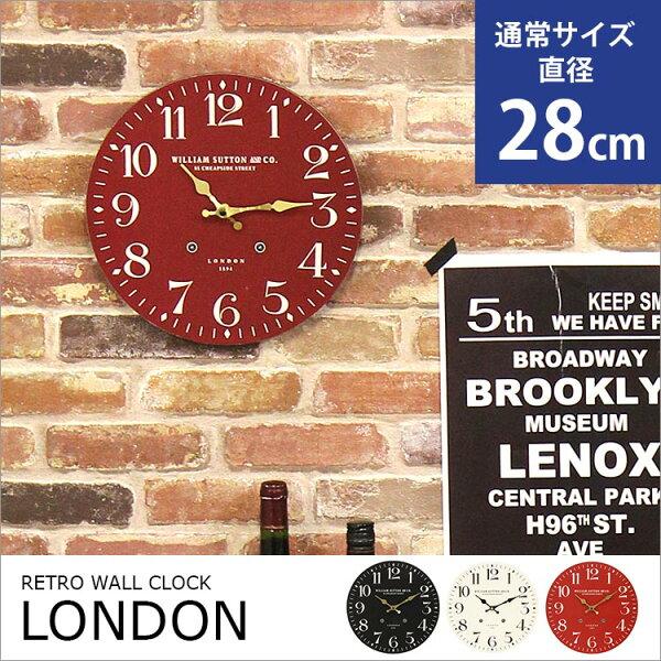 愛媛家居[LONDON]復古英倫風小圓形牆壁掛鐘(28cm)日本直送(下單後約7天到貨)TML