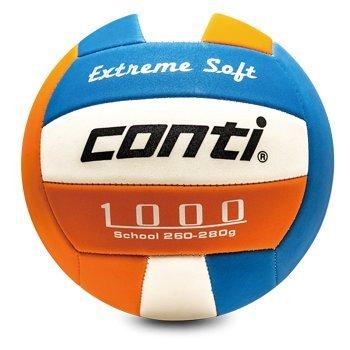 【H.Y SPORT】CONTI 安全軟式排球 (5號球) V1000 白藍橘