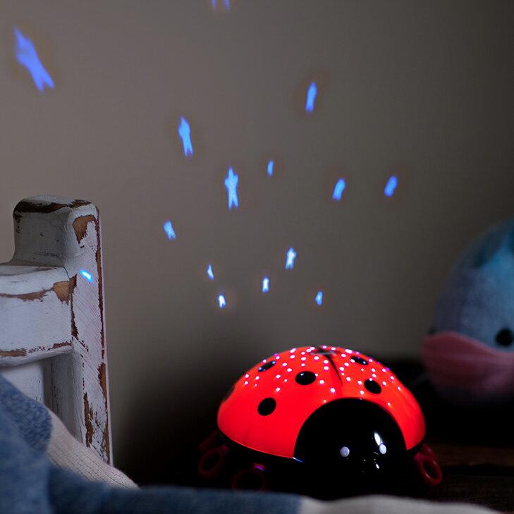 Lumitusi- 紅色瓢蟲LED滿天星投射星星小夜燈 1