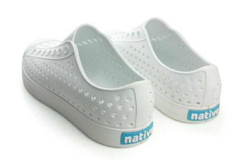 native JEFFERSON 懶人鞋 洞洞鞋 防水 雨天 白 男鞋 女鞋 11100100-1999 no422