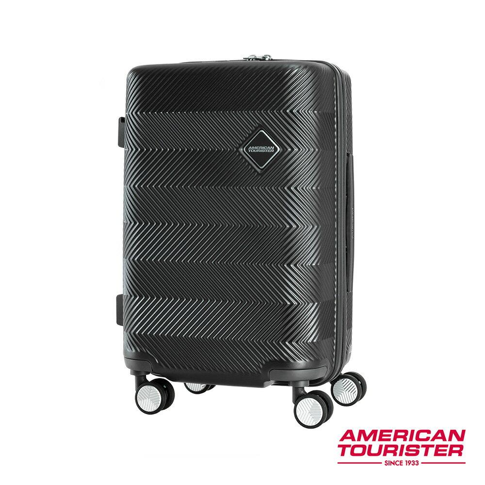 AT美國旅行者 20吋Groovista 霧面耐磨吸震PC硬殼登機箱(黑) 0