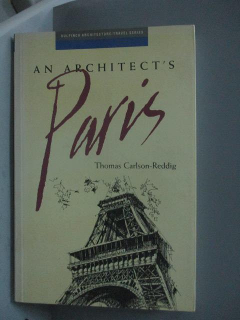 ~書寶 書T8/原文書_HBX~An Architect #x27 s Paris  Bu