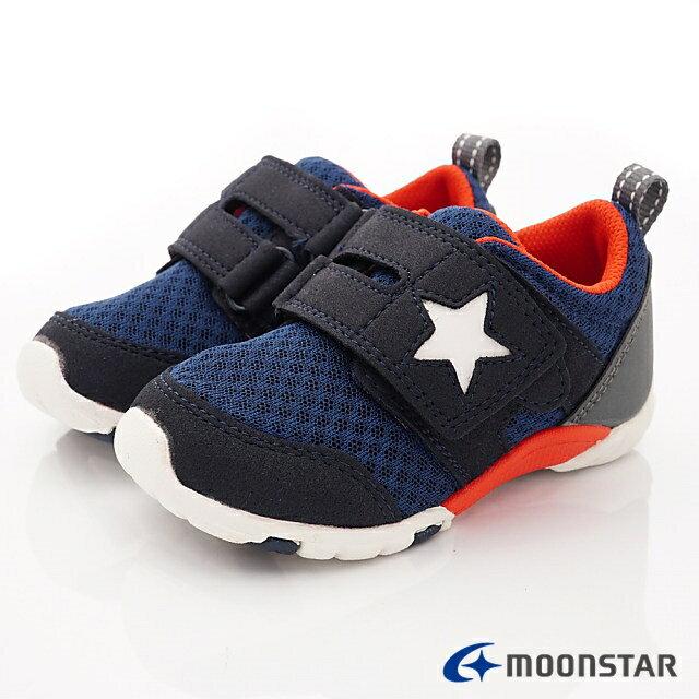 日本月星頂級童鞋 四大機能抗菌運動鞋款-MSC216635深藍(中小童段) 0