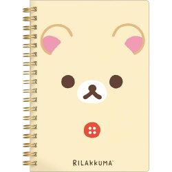 【真愛日本】18022400022 日製奶熊新版線圈筆記本-大臉米 san-x 拉拉熊 奶熊 奶妹 筆記本 日記本