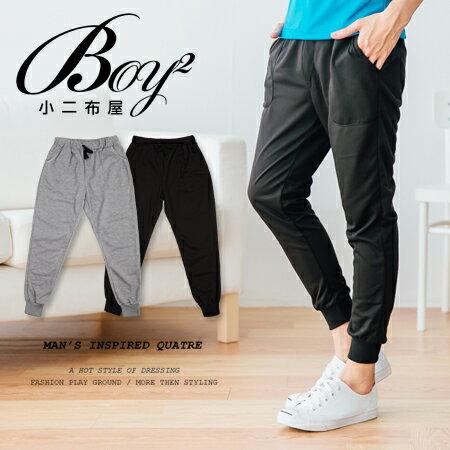 ☆BOY-2☆【JJ102】棉褲 韓版休閒素面抽繩縮口褲 0