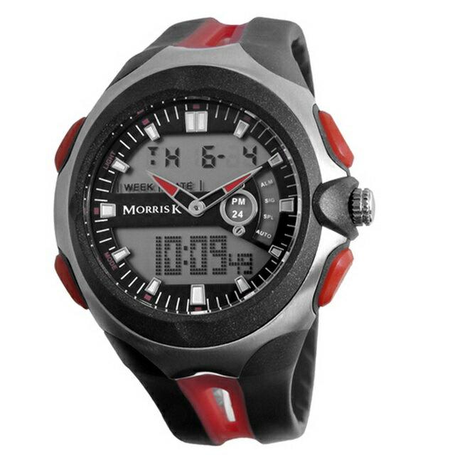 【Morris K】羅志祥代言 雙色雙顯錶 47mm大錶面 多功能 MK14089-RE