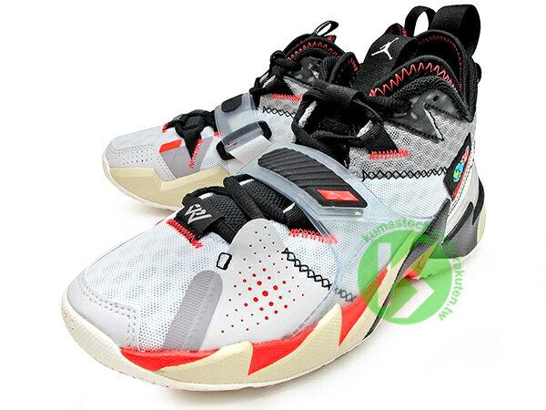2020 雷霆隊 Russell Westbrook 個人簽名鞋款 NIKE AIR JORDAN WHY NOT ZER0.3 GS 大童鞋 女鞋 灰白黑 忍者龜 西河 MVP 大三元製造機 MVP 愛地球 UNITE (CD5804-101) 0120 1