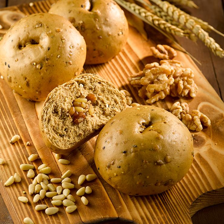 【松子堅果饅頭】1包5入(每顆約130克 + / -5克) ▶玉食堂手工養生包子饅頭