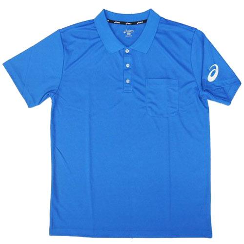 【領券最高折$430】ASICS 亞瑟士 男 短袖 運動POLO衫 胸前口袋設計 - K31707-43 藍【陽光樂活】