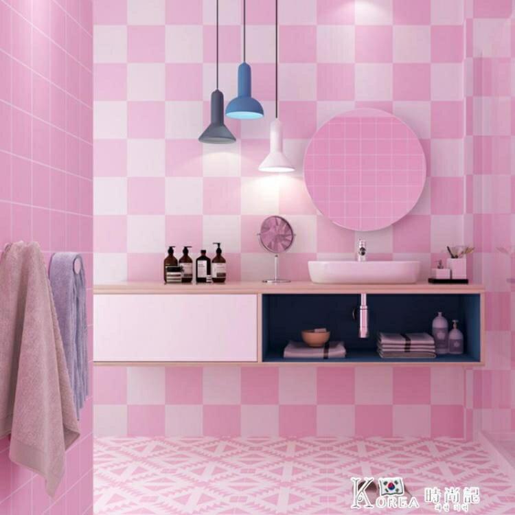 衛生間墻壁地面翻新裝飾貼紙墻面自粘壁紙浴室瓷磚地板磚防水地貼