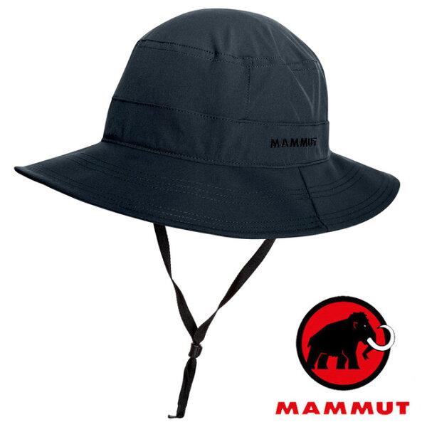 【Mammut長毛象瑞士】Runbold圓盤帽遮陽帽石墨灰/04611-0121