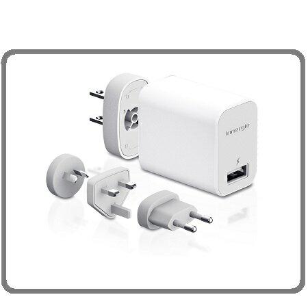 <br/><br/>  Innergie 台達電 PowerTravel Kit 10瓦USB旅行萬用充電組 4個可轉換AC插頭 (歐規、英規、美規、澳規)<br/><br/>