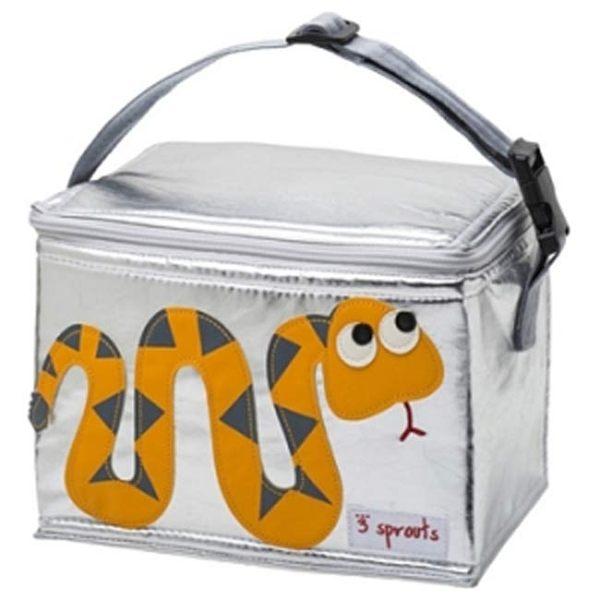 【原廠公司貨】加拿大3 Sprouts 午餐袋/母乳保冷/保溫袋-小蛇