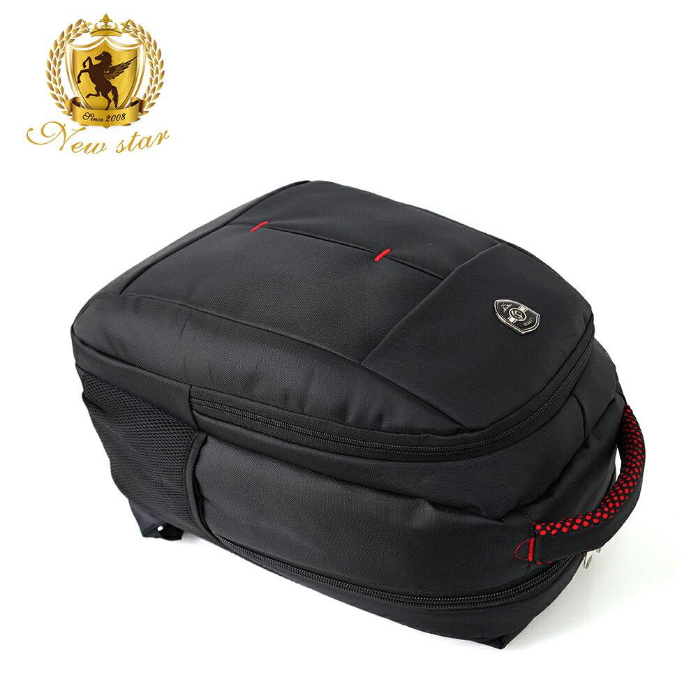 時尚簡約防水極簡雙層後背包電腦包 NEW STAR BK240 4